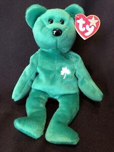 Patrick 1997 Mint tags Irish Shamrock Mint St Details about  /TY Beanie Baby Erin Bear