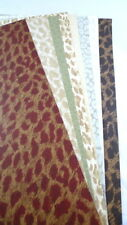 12 Pieces ANIMAL PRINT Wallpaper Remnants Collage Cards Scrapbook Journal Lot #2