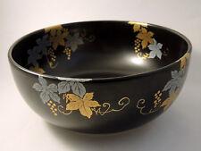21cm Contemporary Japanese Ceramic Bowl from Arita Gold Silver Black Grape Vine