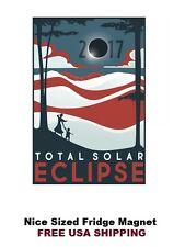 398 - Solar Eclipse 2017 USA Poster Refrigerator Fridge Magnet