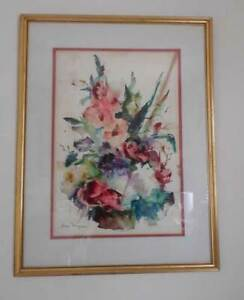Vintage DALE MEYERS ORIG. SIGNED WATERCOLOR PAINTING - SIGNED   (B)