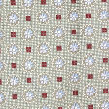 Ermenegildo Zegna Exquisite Mint Green Blue Lotus Flower Polkadot Silk Neck Tie