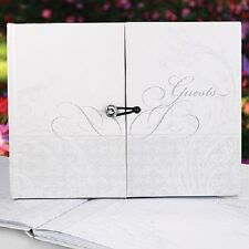 Gatefold Flourish with Loop Closure Personalized Wedding Guest Book