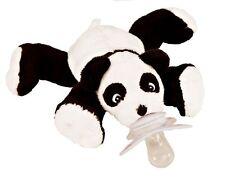 PACI PLUSHIES PLUSH BABY PACIFIER HOLDER PAISLEY PANDA