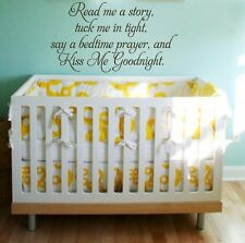 READ ME A STORY Vinyl Wall Decal Words Lettering Quote Baby Nursery Poem 24""