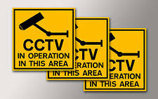 3 CCTV SECURITY WINDOW STICKERS FOR YOUR HOME OR WORK v002