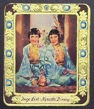 Inge List Monette Dinay 1934 Garbaty Film Star Series 2 Cigarette Card #158