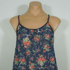 SOPRANO Women's Sheer Floral Cami Top size S