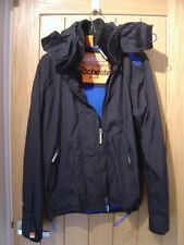 Superdry Womens Black Hooded Windcheater Jacket Size S (Ref L) Ex Con