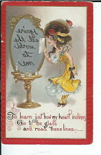 AX-076- You're All the World Artist Signed by DWIG 1907-1915 Golden Age Postcard
