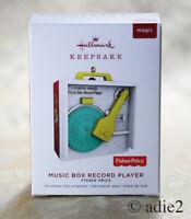 Hallmark 2019 MUSIC BOX RECORD PLAYER Fisher Price, Magic Keepsake Ornament, New