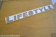 SWIFT Lifestyle - (CHROME) - Motorhome Name Sticker Decal Graphic - SINGLE