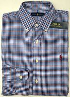 NWT $89 Polo Ralph Lauren Long Sleeve Shirt Mens M L XL Blue Red White Plaid NEW