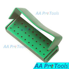 AA Pro: 30 Holes Dental Aluminum Bur Burs Holder Box Autoclave Green DN-2089