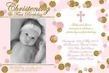 Christening Invitation 1st birthday Baptism Naming Day Party Invite Digital File