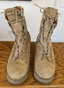 Belleville 790 Men's Military Combat Boots Size 9.5 R Tan Gore Tex Vibram Soles