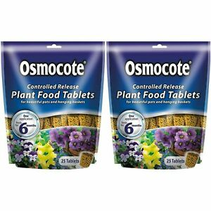 50 x Osmocote Controlled Release Action Plant Flower Food - Easy To Use Tablets