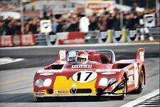 Helmut Marko firmato 12x8 AUTODELTA ALFA ROMEO TIPO TT3, Le Mans 24hrs 1972