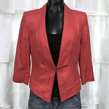 Size 8 - NWT WHITE HOUSE BLACK MARKET Linen Blend Blazer Jacket