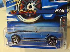 Hot Wheels '65 Mustang #087 Motown Metal Blue!! PR5