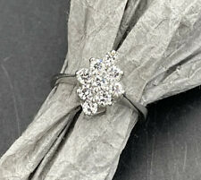 Platinum Cluster Diamond Ring 3/8 Carat Total Finger Size 5.5
