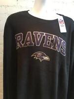 3x Men's Big & Tall Baltimore Ravens Thermal Long Sleeve Shirt - CLOSEOUT