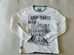 Camp David Sweatshirt gr. XL Weiß 100% Baumwolle