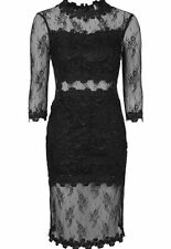Lace 3/4 Sleeve Regular Size Topshop Dresses for Women
