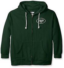 New Women's Plus Size NFL New York Jets Full Zip Fleece Hoodie 4XL Green