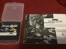 Star Wars (Sega Game Gear) With Plastic Case And Manual