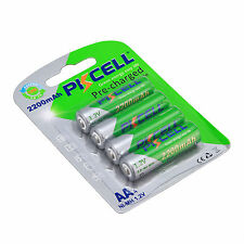 PKCELL 4pcs 2A 2200mAh NIMH AA Rehargeable Batteries For Camera RC Toys