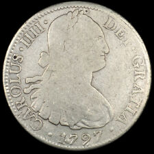 1797 Mexico Silver 8 Reales FM Carolus IIII Circulated