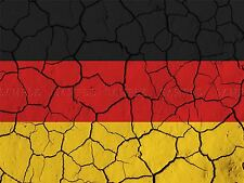 PAINTING ABSTRACT FLAG CRACKED CONCRETE GERMANY GERMAN TRICOLOUR POSTER BMP10264