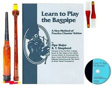 Learn to Play Bagpipes Manual BOOK / CD PLUS PRACTICE CHANTER 01