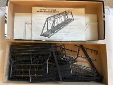 HO Scale Central Valley 150ft. Pratt Truss Bridge Kit used/open box