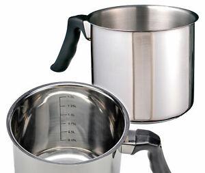 Edelstahl Milchtopf SYLT - 1,5l - Simmertopf Milch erwärmen Kochtopf Wasserbad