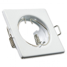 Square Ceiling White Downlights Halogen Spotlights Frame 10x