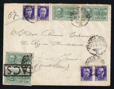 S800-LUOGOTENENZA 1945, BUSTA ESPRESSO 1,25£ +50 c. IMPERIALE P.M.,CASERTA-FERMO