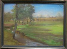 ::RICHARD SCHMIDT-W °PASTELL UM 1920 JUGENDSTIL ART DECO LANDSCHAFT UFER / LB2