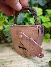 Candado de Latón Antiguo Vintage moho, ninguna clave Hobby, coleccionista vendido cómo puede ver