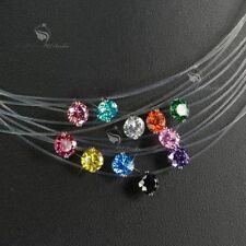Cubic Zirconia White Gold Fashion Necklaces & Pendants