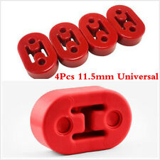 Universal Car Exhaust Pipe Mount Brackets Hanger Insulator 11.5mm 2 Holes Red