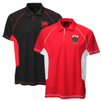 New Mens Cymru Cai or Koo Wales Welsh Rugby Dragon Cool Dry Polo T-shirt Top
