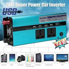Car Power Inverter DC 12V to 220V AC Converter USB Charger Cigarette Lighter UK