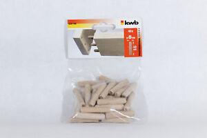 5x 40 KWB Holzdübel, 028-180, 200 Stück, 8x40mm, Dübel