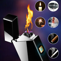 Double Arc Electronic USB Charging No Fire Windproof Pulse Clgarette Lighter kca