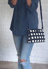 NWT Kate Spade Grove Street Printed Millie Crossbody Handbag Black/White Check