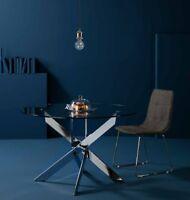 Design Esstisch Küchentisch Rund 120 & 140cm Füße Chrom oder Weiß Konferenztisch