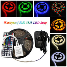 LED Tira Luces Impermeable 5 M 3528/5050 SMD Flexible remota adaptador 7 Colores