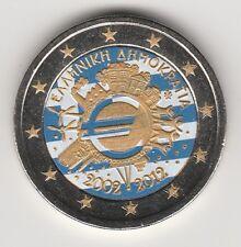 -- 2012AAA  2 EURO C0ULEUR GRECE -- 10 ANS DE L'EURO